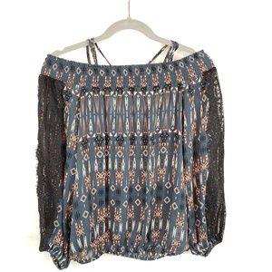 Jessica Simpson Southwest design blouse. Size S